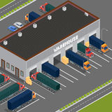 Isometric Warehouse. Storehouse Building. Cargo Industry Royalty Free Stock Photography