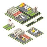 Isometric Warehouse Territories Set Stock Images