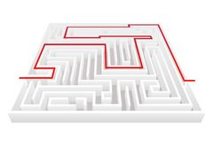 Isometric way pass intricacy labyrinth maze background 3d design template vector illustration. Isometric way pass intricacy maze labyrinth background 3d design Stock Photography