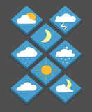 Isometric weather icons, 3D, vector illustration, modern style,. Eps 10 Stock Images
