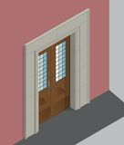 Isometric wejście ilustracji