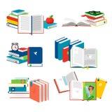 Isometric wektor rezerwuje wektorową ilustrację Czytelniczy pojęcie z dzienniczkiem, notepads, sketchbooks ilustracji