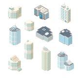 Isometric wektorowy ilustracyjny biurowy ikona set Zdjęcia Royalty Free