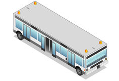 Isometric white airport bus Royalty Free Stock Photos