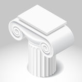 Isometric white capital of ancient column Royalty Free Stock Photography