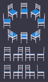 Isometric white chair Royalty Free Stock Images