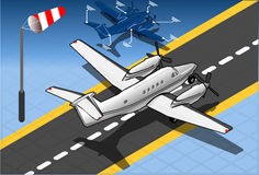 Isometric White Private Plane Royalty Free Stock Photography