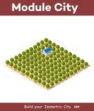 Isometric widok gospodarstwo rolne Ilustracji