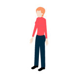 Isometric woman full face Royalty Free Stock Photography