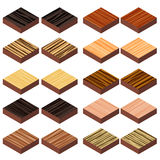 Isometric wood floor Royalty Free Stock Image