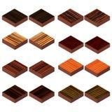 Isometric wood floor Royalty Free Stock Photo