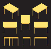 Isometric yellow table Royalty Free Stock Photography