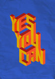Isometric Yes you Can quote background Stock Photo