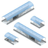 Isometric zwyczajny metro pod autostradą Podziemny przejście Zdjęcia Stock