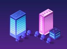 Isometrico futuristico futuro 3d illustrazione vettoriale