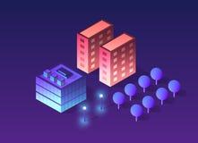 Isometrico futuristico futuro 3d illustrazione di stock