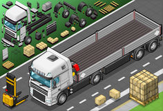Isometrico prenda il camion in Front View Fotografia Stock