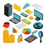 Isometrics business concept design. Illustration eps10 graphic Stock Images
