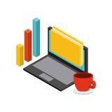 Isometrics business concept design. Illustration eps10 graphic Stock Image
