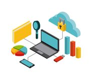 Isometrics business concept design. Illustration eps10 graphic Royalty Free Stock Photography