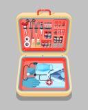 Isometrics médical de valise illustration libre de droits