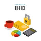 Isometrics objects design Royalty Free Stock Photos