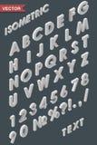 Isometrisch Alfabet Stock Foto