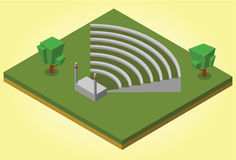 Isometrisch amfitheater Royalty-vrije Stock Afbeelding