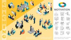 Isometrisch Bedrijfsonderwijsconcept stock illustratie