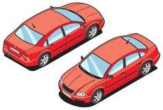 Isometrisch beeld van een auto Royalty-vrije Stock Fotografie