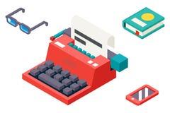 Isometrisch 3d Retro Uitstekend Creativiteitsymbool Stock Afbeeldingen
