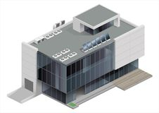 Isometrisch de bouwwinkelcomplex stock illustratie