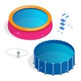 Het opblaasbare zwembad van kiddie 3d illustratie stock for Zwembad plastic