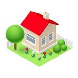 Isometrisch huis Royalty-vrije Stock Afbeelding