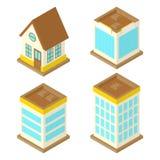 Isometrisch Huis royalty-vrije illustratie