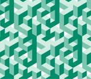 Isometrisch labirynthpatroon Stock Fotografie