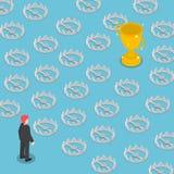 Isometrisch moeilijk weg naar het succeshoogtepunt van vallen royalty-vrije illustratie