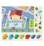 Isometrisch plan Stock Foto's