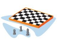 Isometrisch schaak Stock Afbeelding
