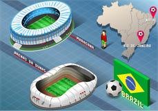 Isometrisch Stadion van Geboorte en Rio De Janeiro, Brazilië Stock Foto's