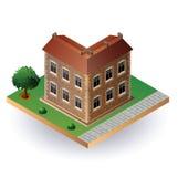 Isometrisch uitstekend huis Stock Foto