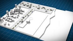 Isometrisch van stadsplan en watergebruik en waterzuiveringsinstallatie stock videobeelden