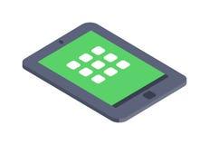 Isometrisch vector de illustratie vlak ontwerp van het tablet infographic pictogram Stock Fotografie