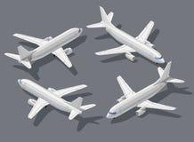 Isometrisch vliegtuig 1 Stock Afbeeldingen