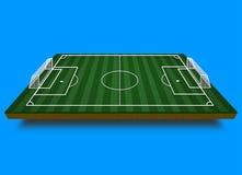 Isometrisch voetbalgebied Isometrisch sportgebied Stock Foto