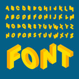 Isometrische alfabetdoopvont Stock Foto's