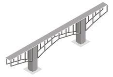 Isometrische Ansicht der Brücke, Lizenzfreies Stockfoto
