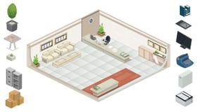 Isometrische Büromöbel Lizenzfreies Stockbild