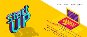 Isometrische banner bedrijfs vlakke plaatsachtergrond Royalty-vrije Stock Afbeelding