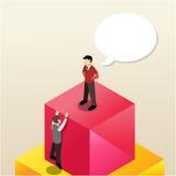 Isometrische bedrijfsillustratie Stock Foto